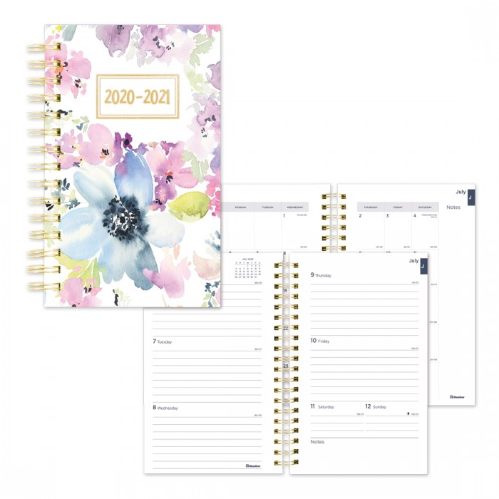 Academic Weekly Planner Floral Design 2020-2021